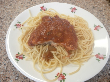 Salmon Spaghetti b